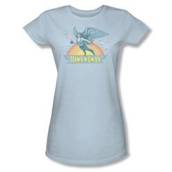 Hawkwoman Juniors S/S T-shirt in Light Blue by DC Comics