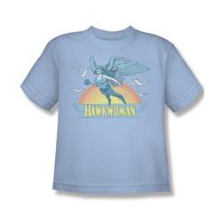 Hawkwoman Big Boys S/S T-shirt in Light Blue by DC Comics