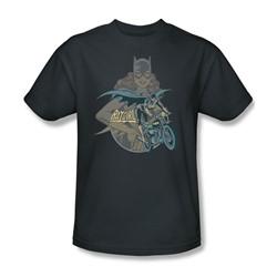 Batgirl Biker Adult S/S T-shirt in Charcoal by DC Comics