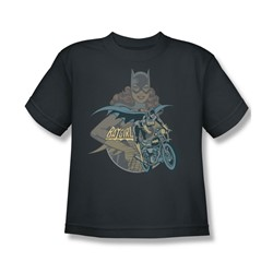 Batgirl Biker Big Boys S/S T-shirt in Charcoal by DC Comics