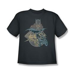 Batgirl Biker Big Boys S/S T-shirt in Charcoal by DC Comics