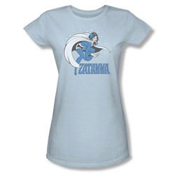 Zatanna Juniors S/S T-shirt in Light Blue by DC Comics