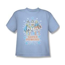 Catwoman Super Powers X3 Big Boys S/S T-shirt in Light Blue by DC Comics