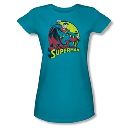 Superman Juniors S/S T-shirt in Turquoise by DC Comics