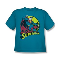Superman Youth S/S T-shirt in Turquoise by DC Comics