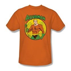 Aquaman Adult S/S T-shirt in Orange by DC Comics