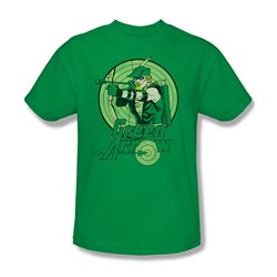 Green Arrow Adult S/S T-shirt in Kelly Green by DC Comics