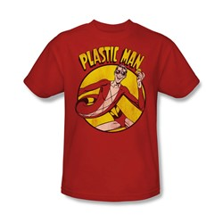 Plastic Man Adult S/S T-shirt in Red by DC Comics