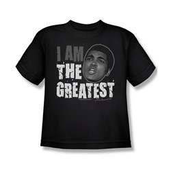 Muhammad Ali - I Am The Greatest Youth T-Shirt In Black