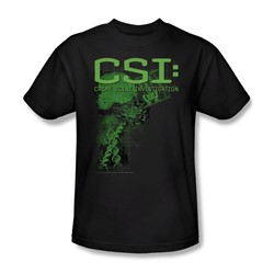 CSI - Evidence - Adult Black S/S T-Shirt For Men