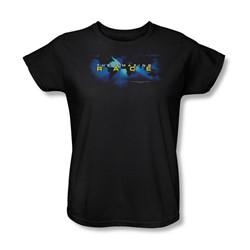 Cbs - The Amazing Race / Faded Globe Womens T-Shirt In Black