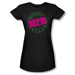 Cbs - Beverly Hills 90210 / 90210 Neon Juniors T-Shirt In Black