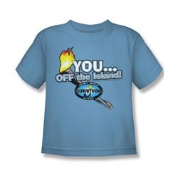 Cbs - Survivor / You, Off The Island! Little Boys T-Shirt In Carolina Blue