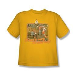 Cbs - Brady Bunch / Have A Very Brady Day! Big Boys T-Shirt In Gold