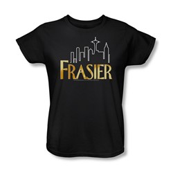 Cbs - Fraiser / Fraiser Logo Womens T-Shirt In Black