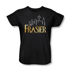 Cbs - Fraiser / Fraiser Logo Womens T-Shirt In Black