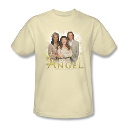 Cbs - Touched By An Angel / Angel Cloud Adult T-Shirt In Cream