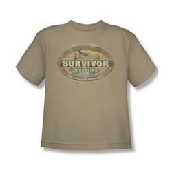 Cbs - Survivor / Tocantins Distressed Big Boys T-Shirt In Sand