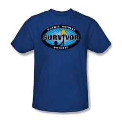 Cbs - Survivor / Survivor Blue Burst Adult T-Shirt In Royal Blue