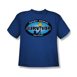 Cbs - Survivor / Survivor Blue Burst Big Boys T-Shirt In Royal Blue