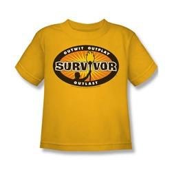 Cbs - Survivor / Survivor Gold Burst Little Boys T-Shirt In Gold