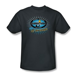 Cbs - Survivor / Off My Island Adult T-Shirt In Charcoal