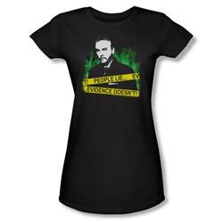 Cbs - Csi / People Lie… Juniors T-Shirt In Black