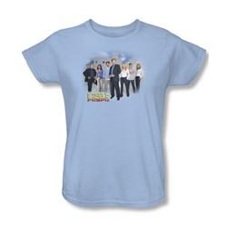 Cbs - Csi / Miami Cast Womens T-Shirt In Light Blue