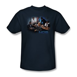 Cbs - Ncis / Original Cast Adult T-Shirt In Navy