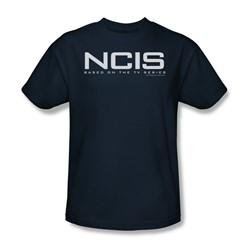 Cbs - Ncis Logo Adult T-Shirt In Navy