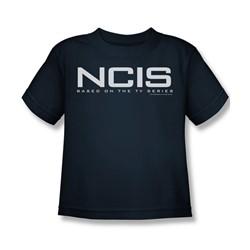 Cbs - Ncis Logo Little Boys T-Shirt In Navy