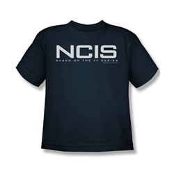 Cbs - Ncis Logo Big Boys T-Shirt In Navy