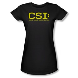 Cbs - Csi Logo Juniors T-Shirt In Black