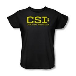 Cbs - Csi Logo Womens T-Shirt In Black