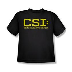 Cbs - Csi Logo Big Boys T-Shirt In Black