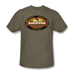Cbs - Australian Outback Adult T-Shirt In Safari Green