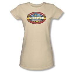 Cbs - Cook Islands Juniors T-Shirt In Cream