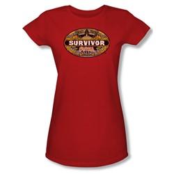 Cbs - China Juniors T-Shirt In Red