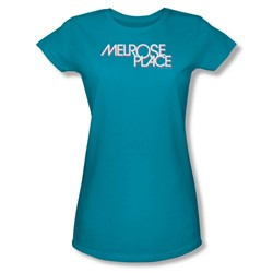 Cbs - Melrose Place Juniors T-Shirt In Turquoise