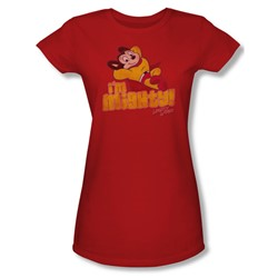Cbs - I'M Mighty Juniors T-Shirt In Red
