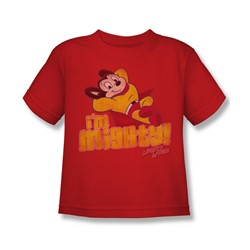 Cbs - I'M Mighty Little Boys T-Shirt In Red
