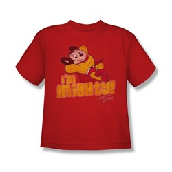 Cbs - I'M Mighty Big Boys T-Shirt In Red