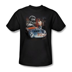 James Dean - Sunday Drive Adult T-Shirt In Black