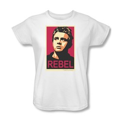 James Dean - Rebel Campaign Womens T-Shirt In White