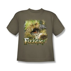 The Dark Crystal - Fizzgig Big Boys T-Shirt In Safari Green