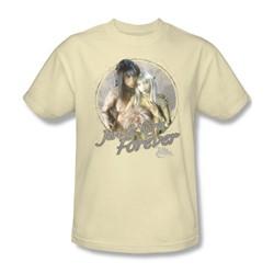 The Dark Crystal - Jen & Kira Adult T-Shirt In Cream