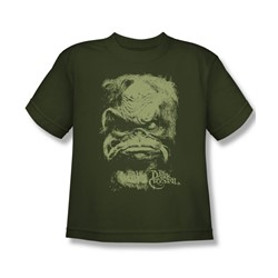 The Dark Crystal - Aughra Big Boys T-Shirt In Military Green