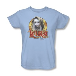 The Dark Crystal - Kira Circle Womens T-Shirt In Light Blue