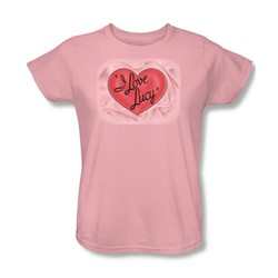 I Love Lucy - 3D Logo Womens T-Shirt In Pink
