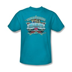 I Love Lucy - California, Here We Come Adult T-Shirt In Turquoise